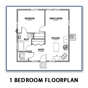 Image of 1 Bedroom Floor Plan Without Link