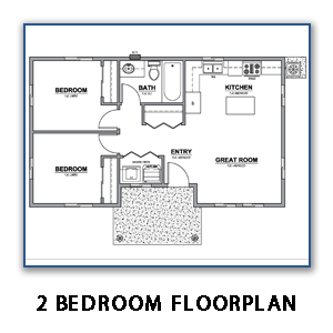 Image of 2 Bedroom Floor Plan Without Link
