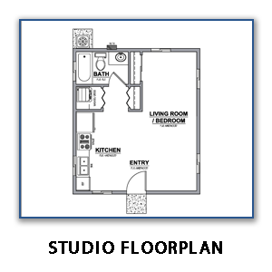 Image of Studio Floor Plan Without Link